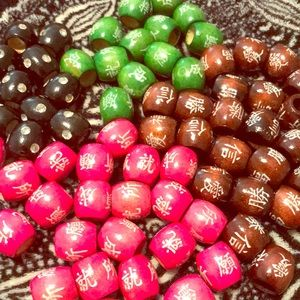 Large Wooden Beads For Hair and Jewelry 4 colors